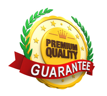 Premium Quality Guaranteed Label photo