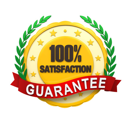 Satisfaction Guaranteed Label photo