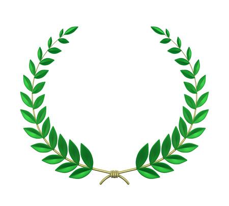 golden laurel wreath: Laurel Wreath