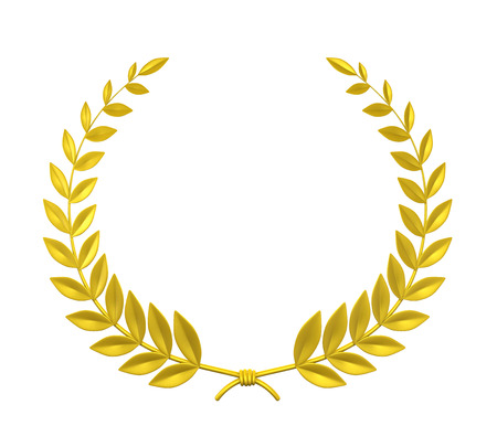 green and gold: Laurel Wreath