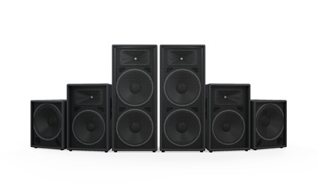 stack rock: Group of Speakers Stock Photo