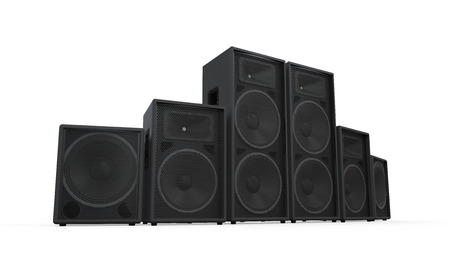 Group of Speakers Stock Photo - 27107852