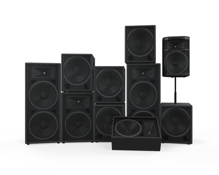 Group of Speakers Stock Photo - 27107851