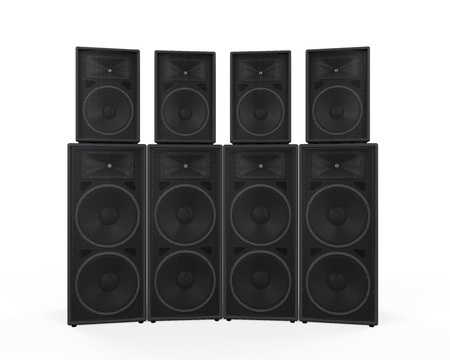 Group of Speakers Stock Photo