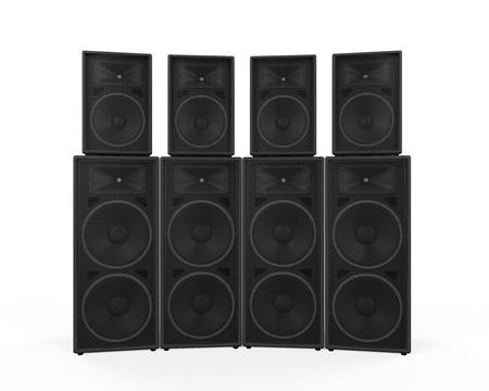 speaker system: Group of Speakers Stock Photo