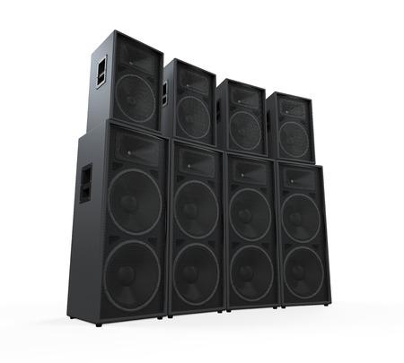 sound speaker: Group of Speakers Stock Photo