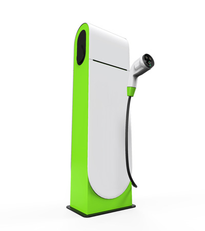 electric station: Electric Vehicle Charging Station Stock Photo