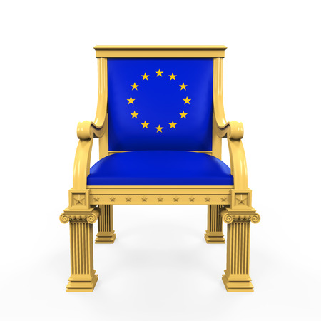 throne: Throne Chair of European Union Stock Photo