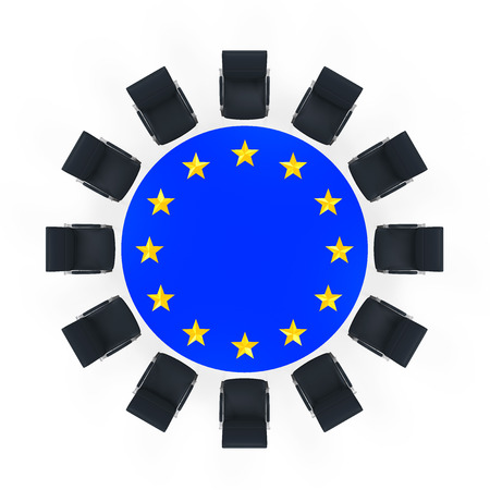 European Union Round Meeting Table photo