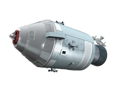 docking: Apollo Command Service Module Stock Photo