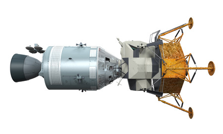 アポロ着陸船ドッキング 写真素材