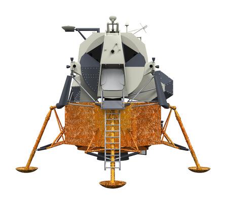 docking: Apollo Lunar Module Stock Photo