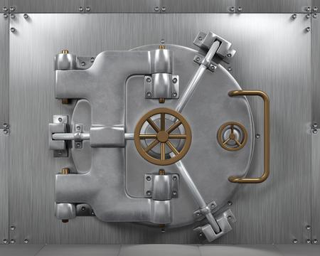 money vault: Close Bank Vault Door