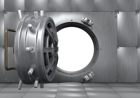 Offene Bank Vault Tür