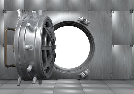 Ouvrir la Banque Vault porte Banque d'images - 27359497