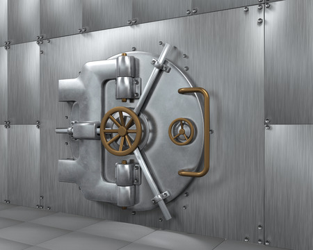 bank deposit: Close Bank Vault Door