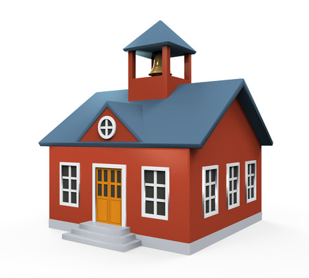 old school: School Building Icon Stock Photo