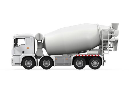 cemento: Camión mezclador de concreto