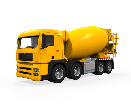 Yellow Concrete Mixer Truck photo