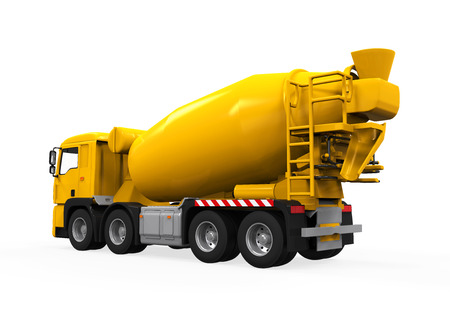 Yellow Concrete Mixer Truck photo