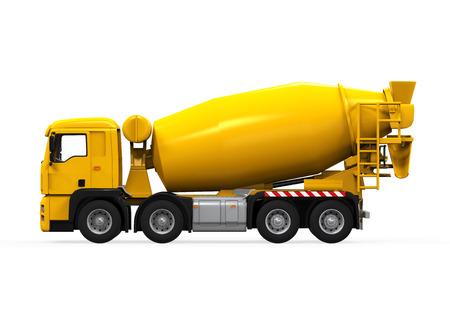 mixer: Yellow Concrete Mixer Truck Stock Photo