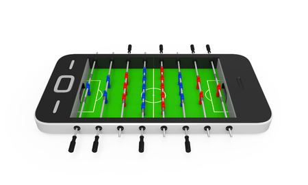foosball: Foosball Table in Mobile Phone