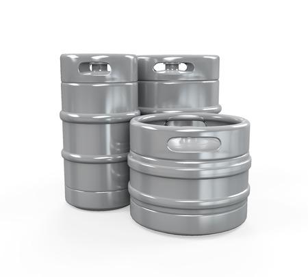 kegs: Metal Beer Kegs Stock Photo