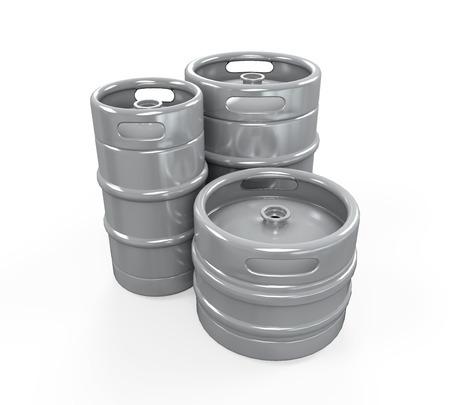 Metal Beer Kegs photo