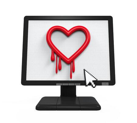 vulnerable: Heartbleed Bug in Computer Screen