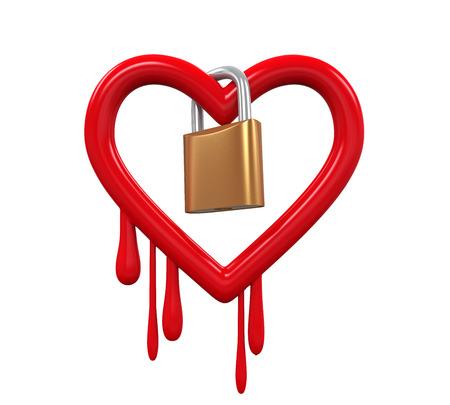 backdoor: Heartbleed Bug and Padlock Stock Photo