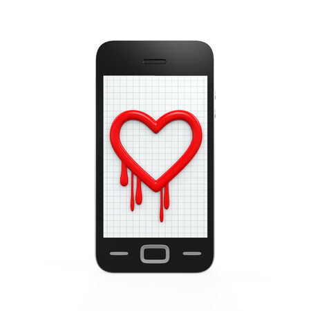 Heartbleed Bug in Mobile Phone photo