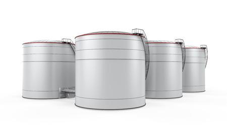 tanque de combustible: Almacenamiento de combustible Foto de archivo