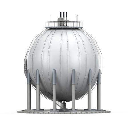 gas ball: Gas Storage Refinery Stock Photo