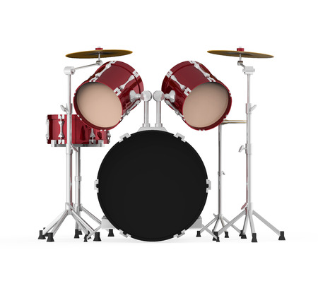 drum set: Drum Kit Isolated Stock Photo