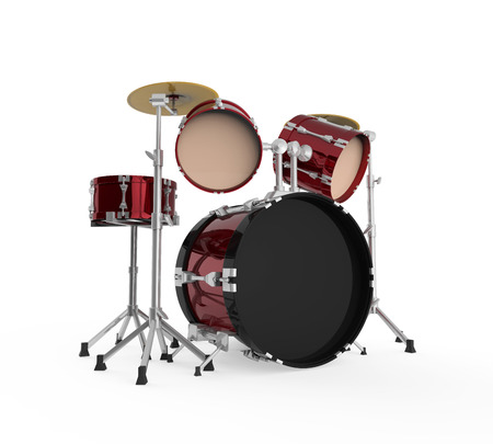 drums: Drum Kit Isolated Stock Photo