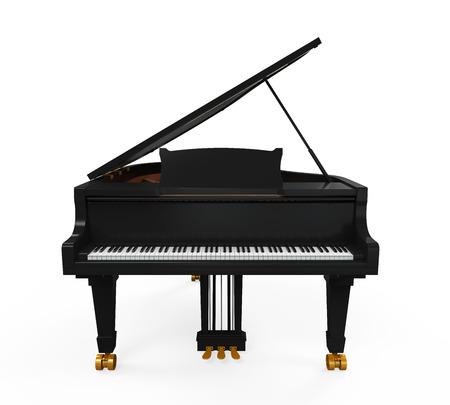 klavier: Grand Piano isoliert Lizenzfreie Bilder