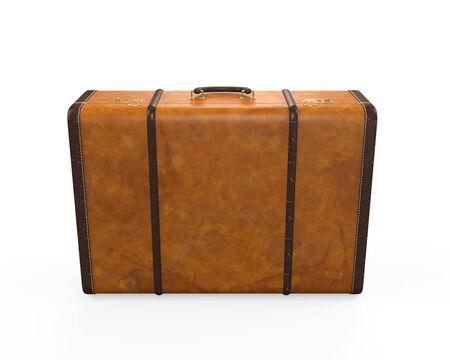 leather briefcase: Vintage Suitcase