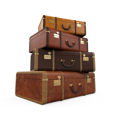 Pile of Vintage Suitcases photo