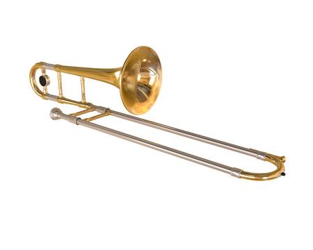 brass instrument: Brass Trombone Stock Photo