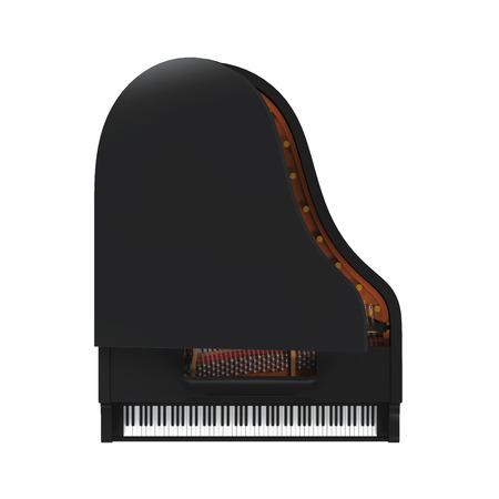grand piano: Piano de cola aislada