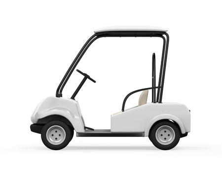 Golf Car Isolated photo