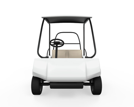 golf cart: Golf Car Isolated Stock Photo