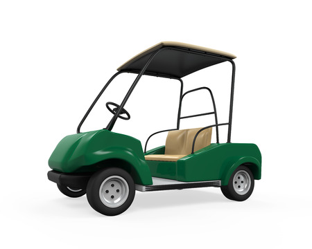 Golf Car Isolated photo
