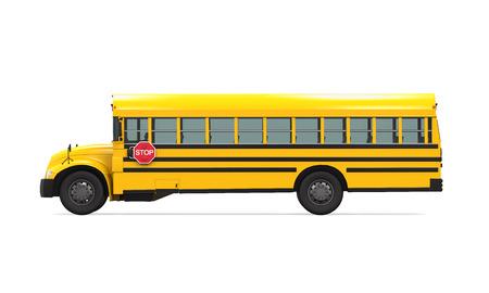 bus parking: School Bus
