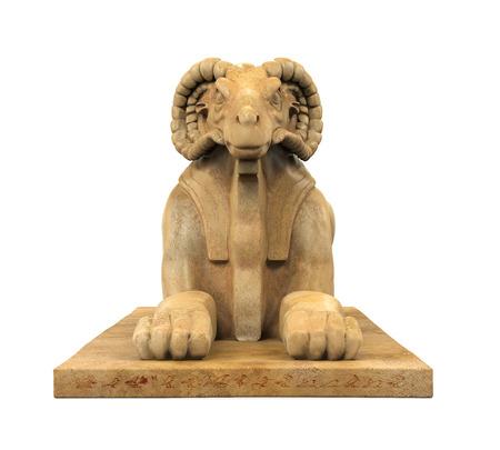 Sphinx: Egyptian Ram Headed Sphinx Statue Stock Photo