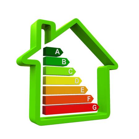 energy saving: Niveles de eficiencia energética Foto de archivo
