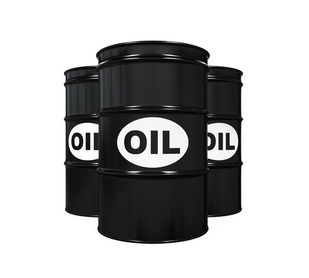Oil Barrels Isolated photo