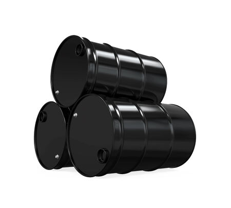 Oil Barrels Isolated