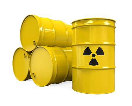 Yellow Radioactive Barrels Stock Photo - 29390645