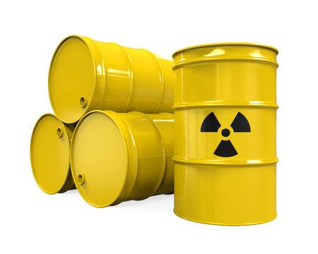nuclear waste disposal: Yellow Radioactive Barrels